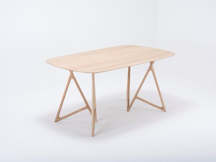 Rectangular oak table KOZA | Oak table by Gazzda