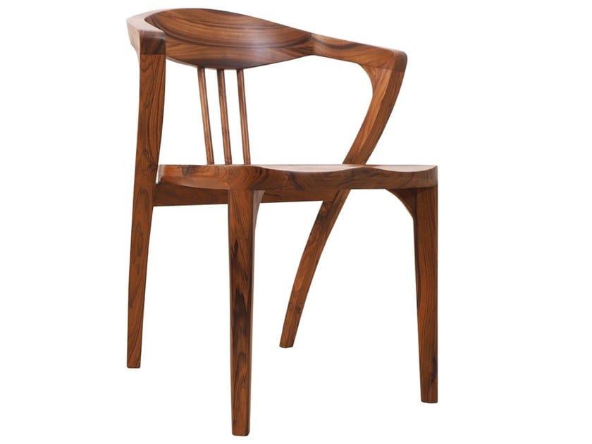 Teak chair with armrests KRATKY by ALANKARAM