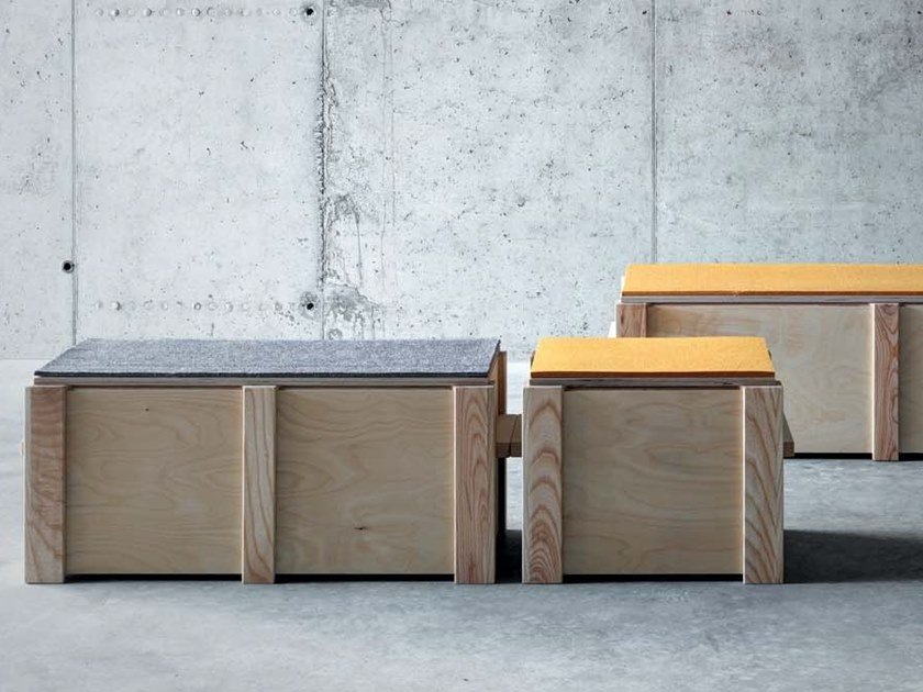 Multi-layer wood storage chest KREFELD | Storage chest by FIORONI