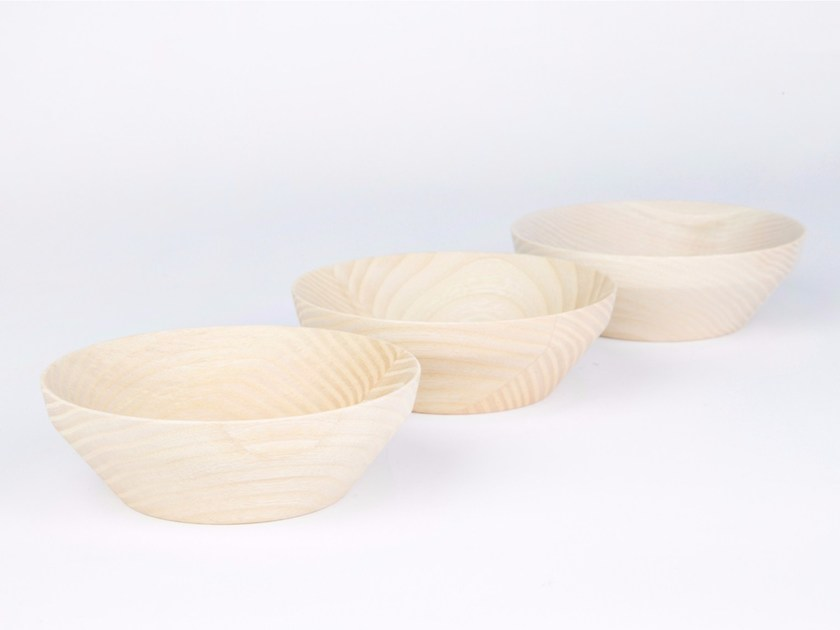 Solid wood serving bowl KRIMS Small Set by kommod