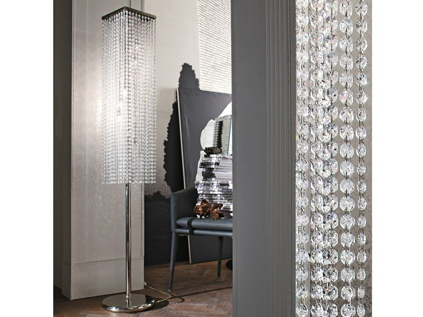 Floor lamp with crystals KRISTAL | Floor lamp by Adriani e Rossi edizioni