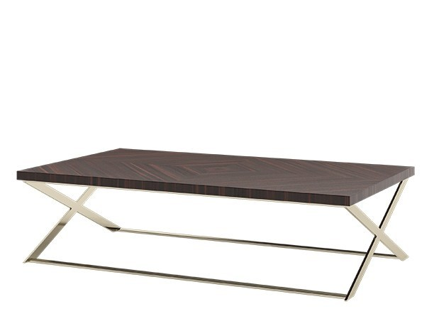Low rectangular wooden coffee table for living room KROSS | Coffee table by Capital Collection