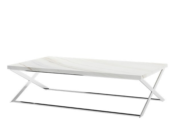 Low rectangular marble coffee table for living room KROSS | Rectangular coffee table by Capital Collection
