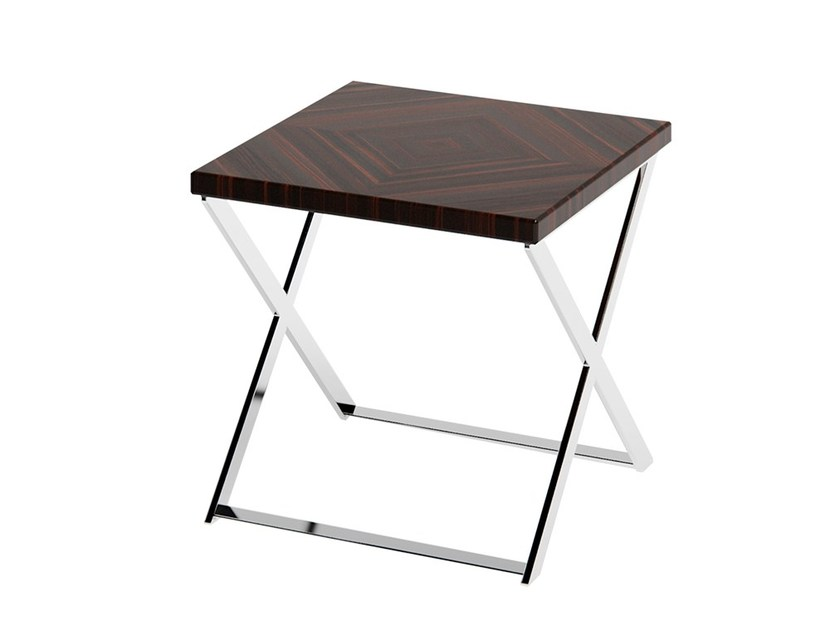 Square wooden side table KROSS | Wooden coffee table by Capital Collection