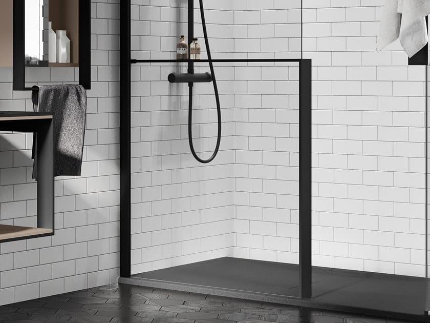 Mensola portaoggetti in alluminio per parete doccia KUADRA H FRAME | Mensola bagno by NOVELLINI
