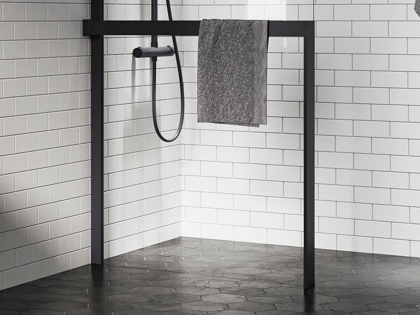 Porta salviette a barra in alluminio per parete doccia KUADRA H FRAME | Porta asciugamani by NOVELLINI