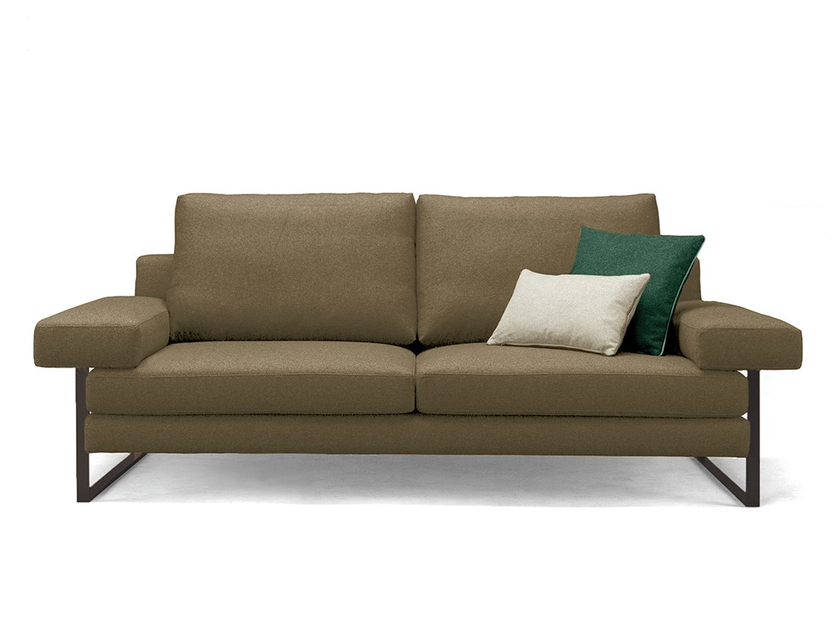Sled base fabric sofa KUADRA by Mambo Unlimited Ideas