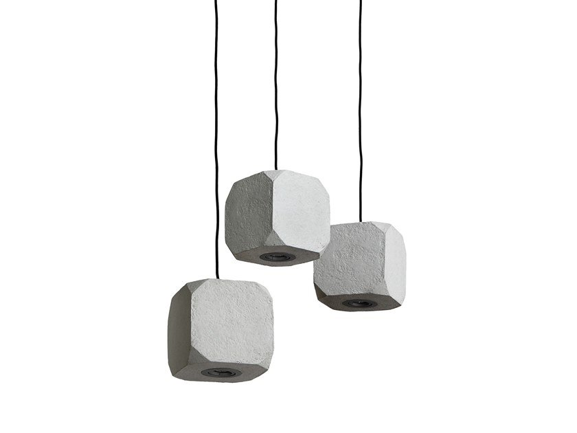 Direct light Recycled paper pendant lamp KUBAS by INDI