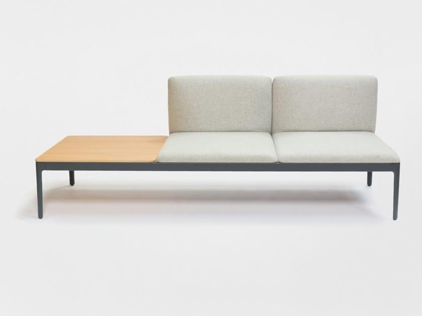 Modular fabric bench seating with back KUBIKA | Modular bench seating by ENEA