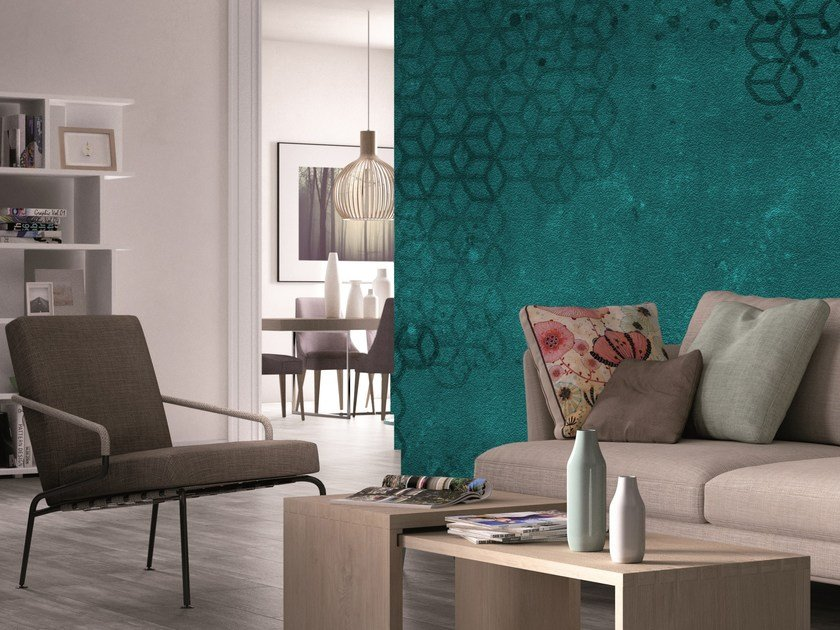 Motif geometric wallpaper KUBO by Mat&Mat