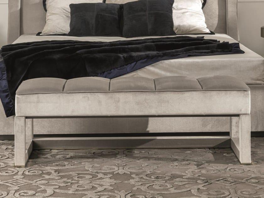 Upholstered velvet bench KUBRICK | Bench by Longhi