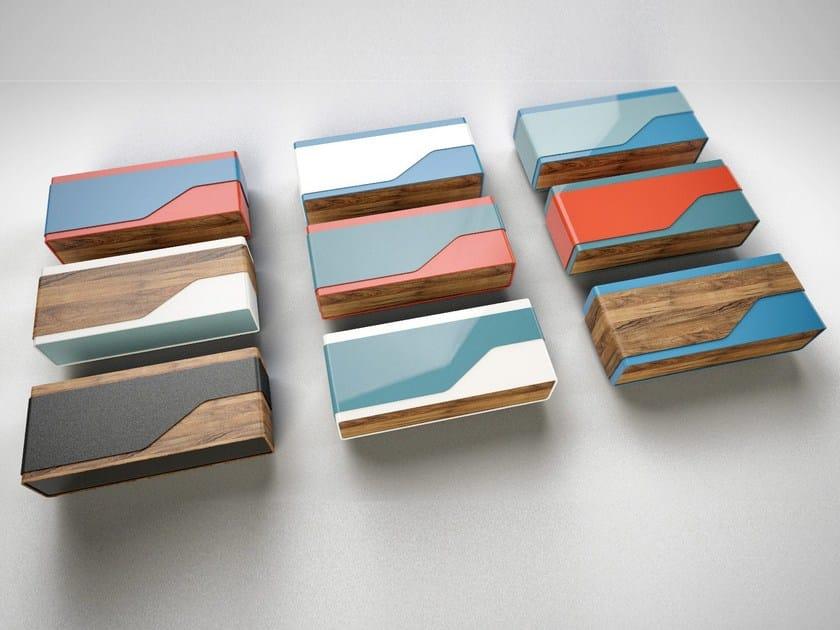 Rectangular wooden coffee table KUBRICK | Rectangular coffee table by IronWoods