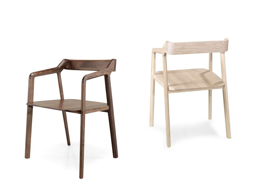 Solid wood chair with armrests KUNDERA by Wewood