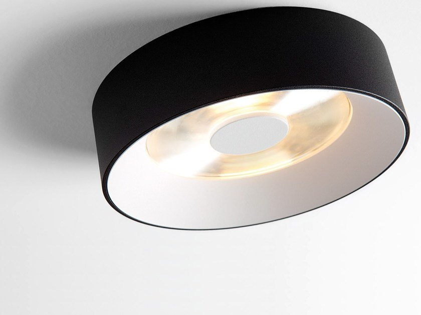 Contemporary style LED direct light aluminium ceiling lamp KURK SURFACE by Modular Lighting Instruments