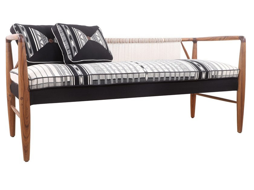 3 seater wooden sofa KUTU | 3 seater sofa by ALANKARAM