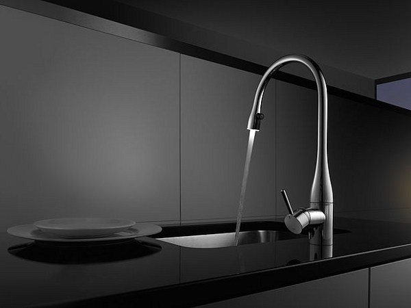 Countertop kitchen mixer tap with pull out spray KWC EVE | Kitchen mixer tap by KWC
