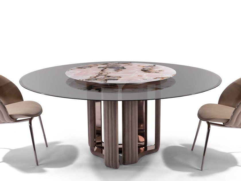 Round glass dining table KYLO | Table by Visionnaire