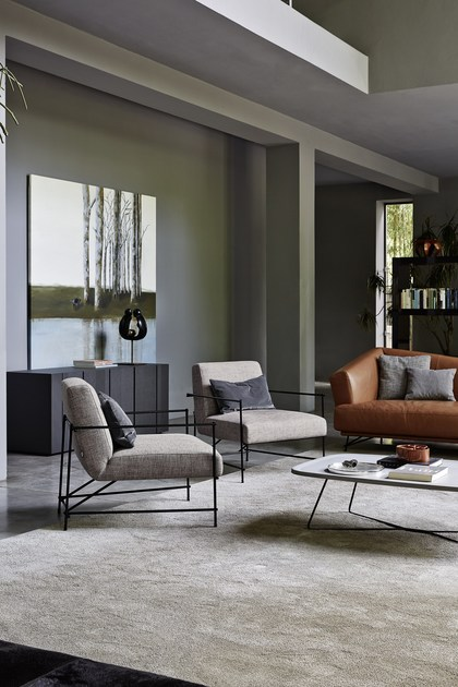 Contemporary style upholstered armchair with armrests KYO by Ditre Italia