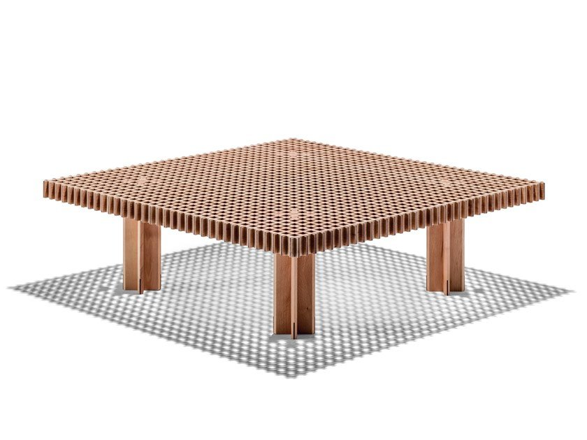 Square solid wood coffee table KYOTO | Coffee table by Poltrona Frau