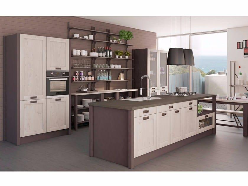 Cucina componibile con isola KYRA VINTAGE 02 by CREO Kitchens