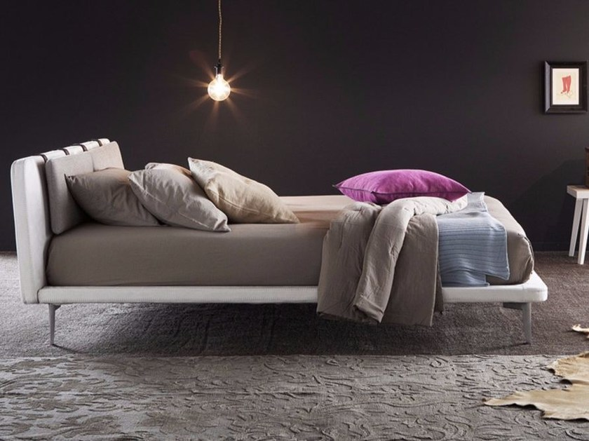 Imitation leather bed with removable cover KYROS by Chaarme Letti