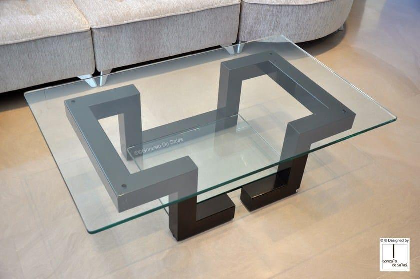Rectangular iron coffee table KYTHIRA by Gonzalo De Salas