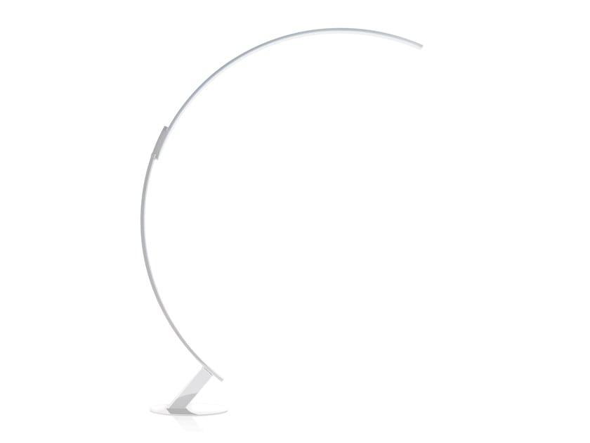 Lampada da terra regolabile a LED in alluminio KYUDO by KUNDALINI