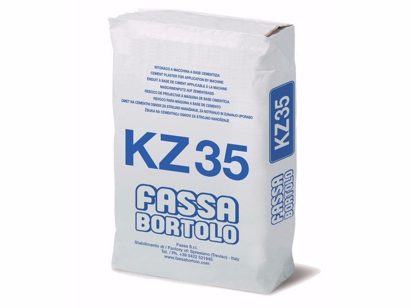 Hydraulic and hydrated lime based plaster KZ 35 by FASSA