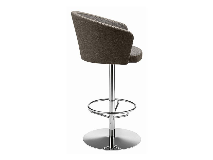 Swivel upholstered stool with armrests Kicca 320 by Metalmobil
