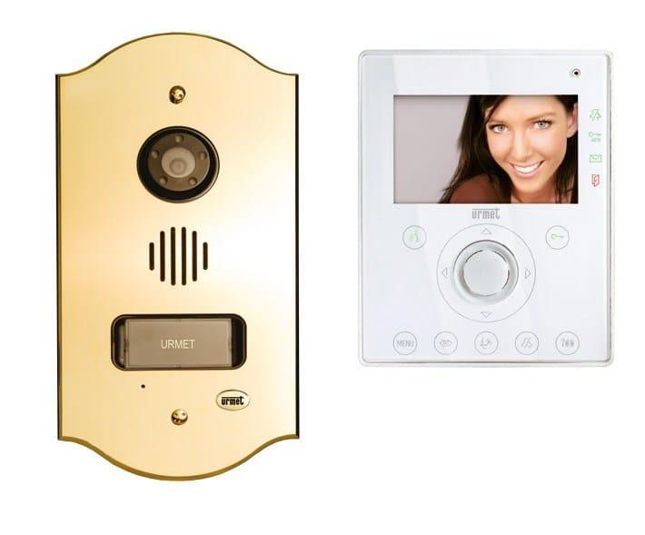 Video entryphone system and equipment Kit Aiko & Mikra Exigo Ottone lucido by Urmet