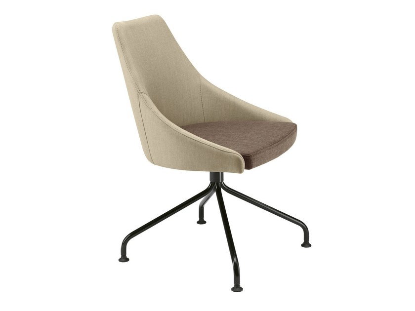 Upholstered easy chair with 4-spoke base Kontea 588 by Metalmobil
