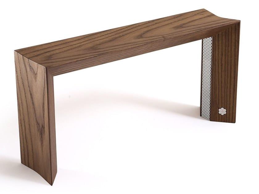Lampada da tavolo in legno massello LÙM by KARN