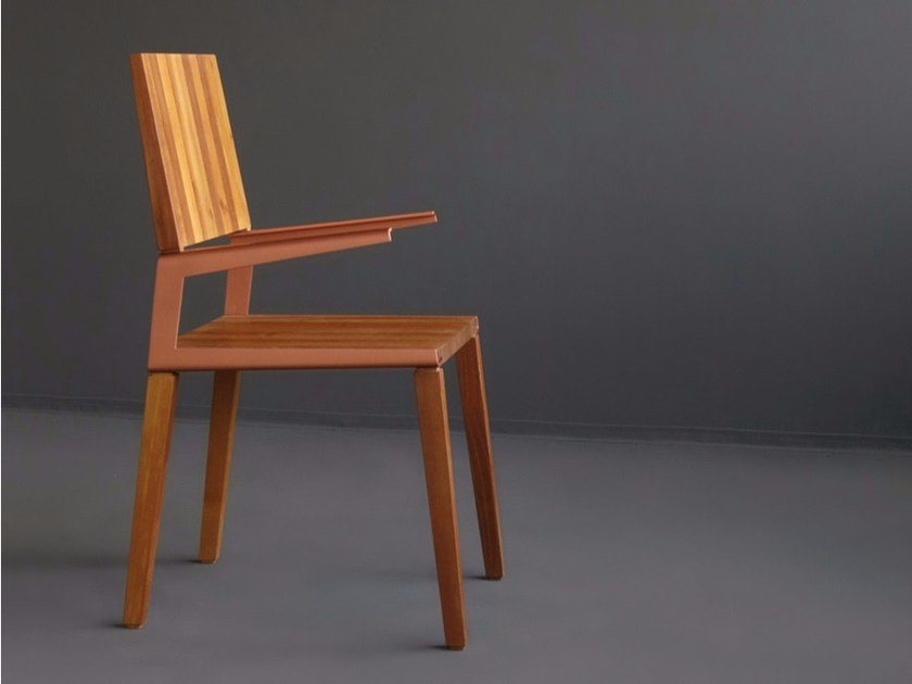 Solid wood chair with armrests L | Chair by HOOKL und STOOL