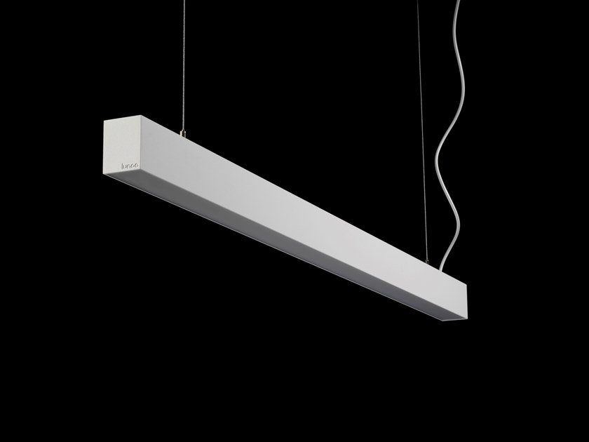 Lampada a sospensione a LED a luce diretta in alluminio verniciato a polvere L-WAY AIR by LUNOO