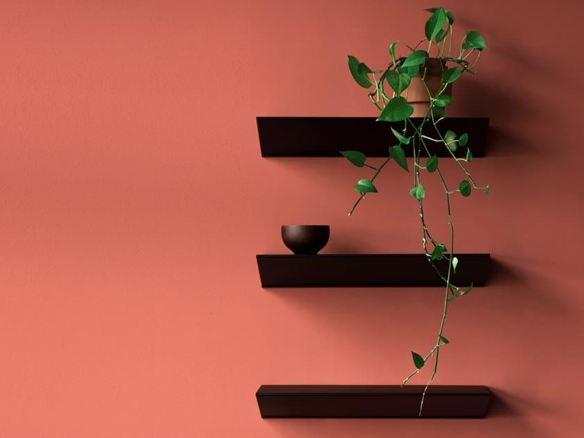 Powder coated steel wall shelf L1 | Wall shelf by LOEHR