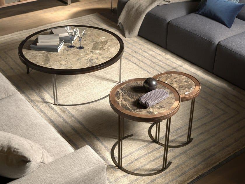 Round coffee table LEONARDO L1040N | Marble coffee table by Arte Brotto