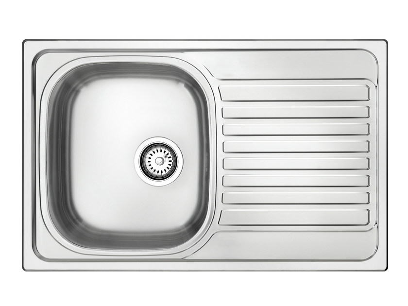 Single built-in sink with drainer L1G79X | Sink by Glem Gas