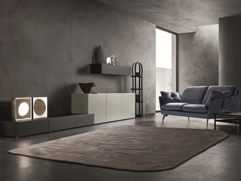 Sectional lacquered storage wall LEI   Composition L203 by ZANETTE