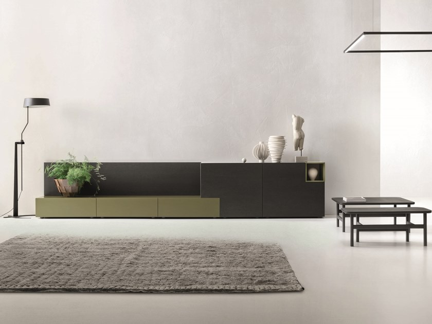 Modular lacquered sideboard LEI | Composition L205 by ZANETTE