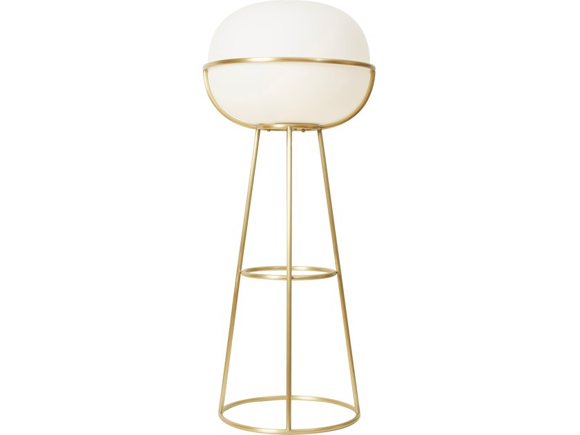 Brass floor lamp L88 | Floor lamp by Monolithe Edition