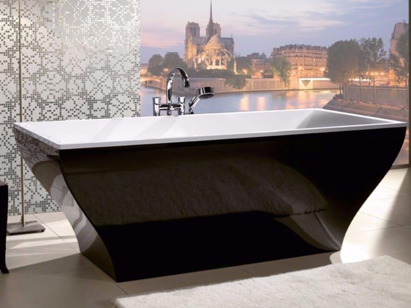 Vasca da bagno centro stanza in Quaryl® LA BELLE  - COLOUR ON DEMAND by Villeroy & Boch