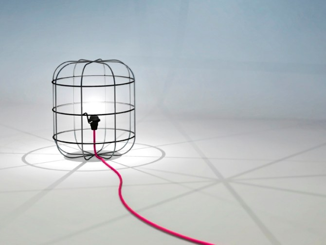 LA CAGE | Table lamp By Dark at night design Stefan Schöning