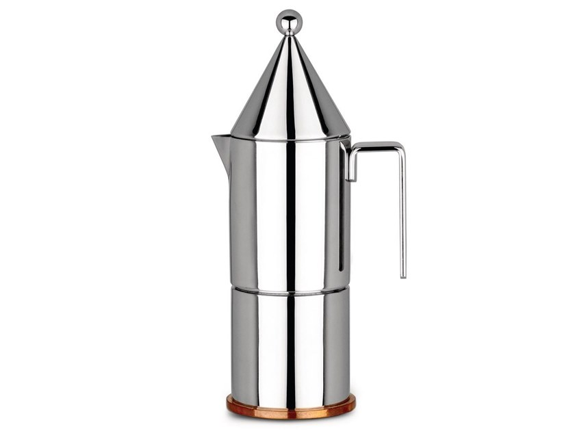 Stainless steel coffee maker LA CONICA by Alessi