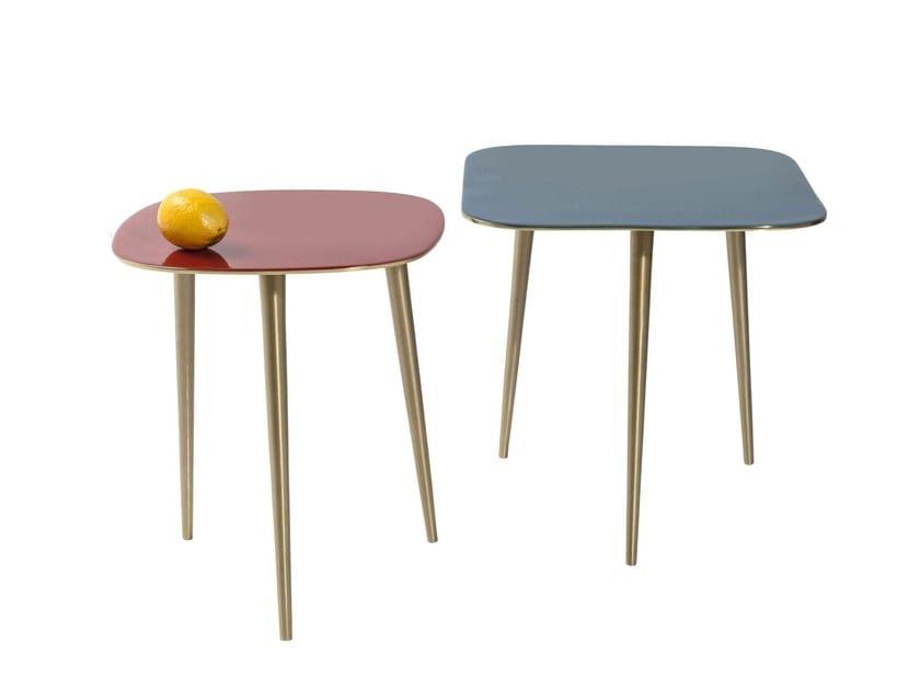 Tavolino di servizio rettangolare in alluminio LA COSTA SQUARE by KARE-DESIGN