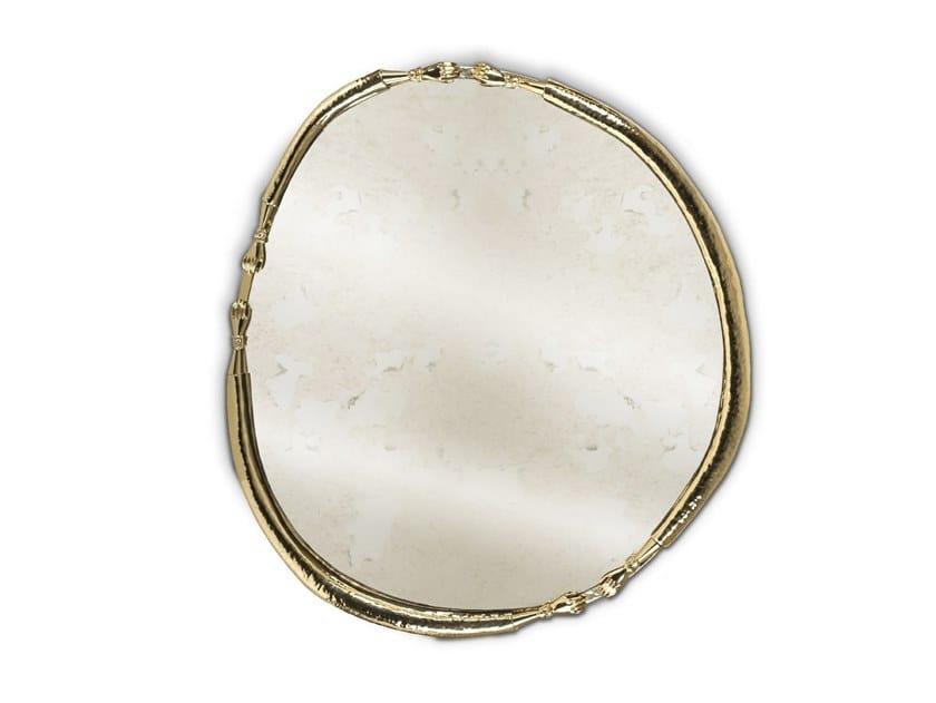 Wall-mounted brass mirror LA JOIE by Malabar