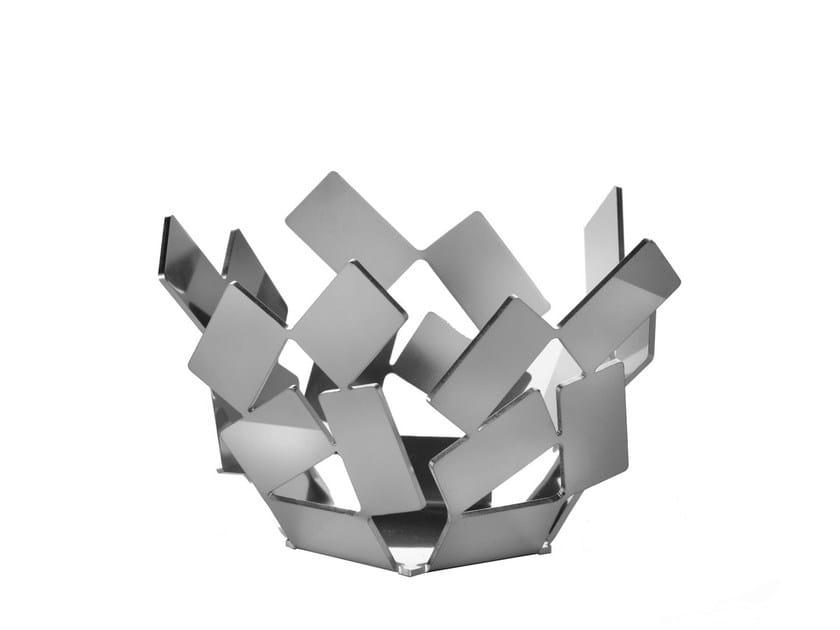 Steel candle holder LA STANZA DELLO SCIROCCO | Candle holder by Alessi