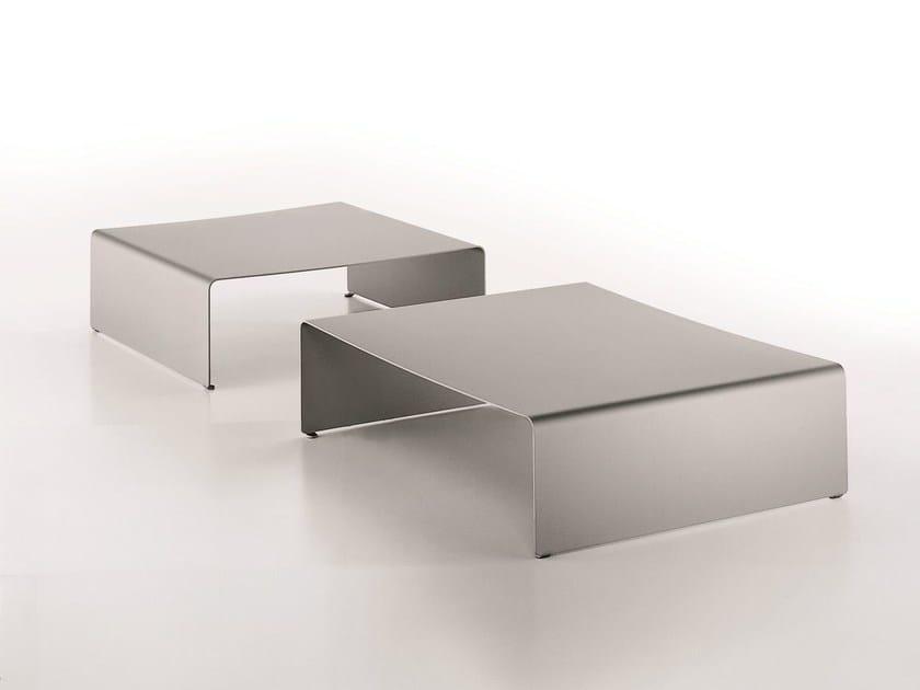 Low aluminium coffee table LA TABLE BASSE by MDF Italia