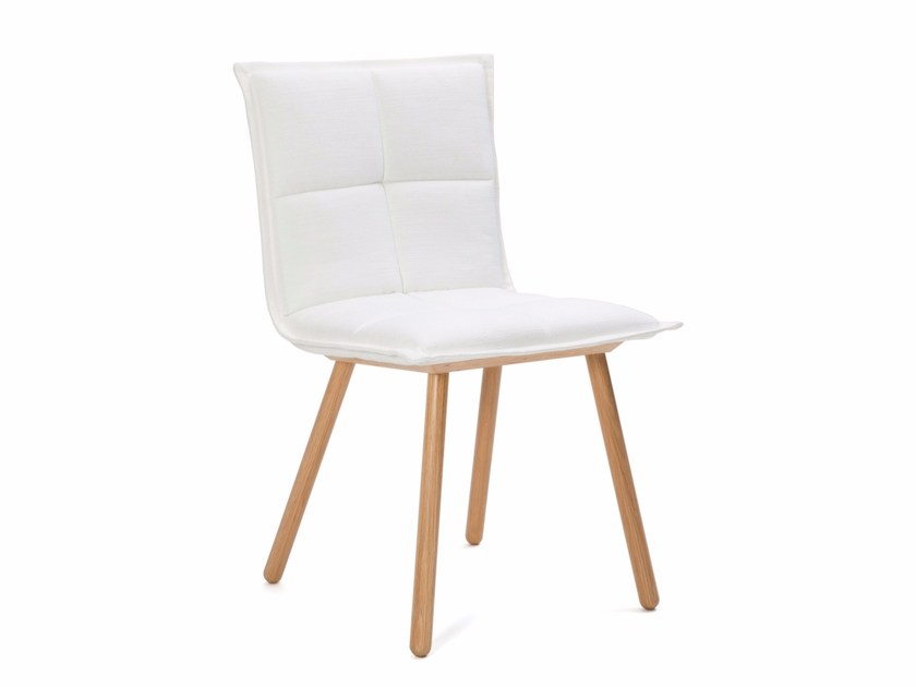 Upholstered fabric chair LAB MEETING by Inno