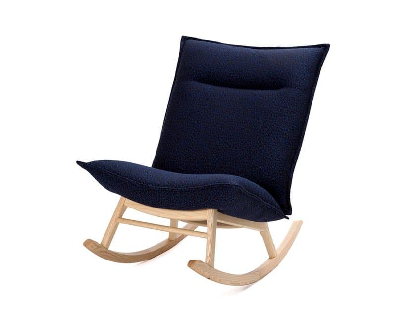 Rocking fabric armchair LAB XL ROCKING by Inno