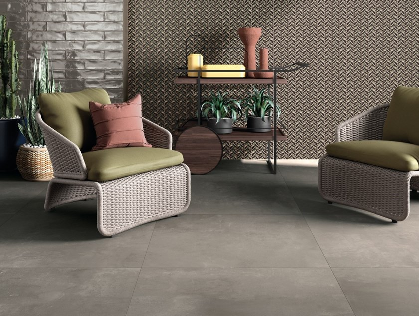 LAB325 ABK LAB 325 10 BASE TAUPE 80X80 + WIDE&STYLE LIBERTY LIME 120X240 + CROSSROAD BRICK SMOKE 7,5X30